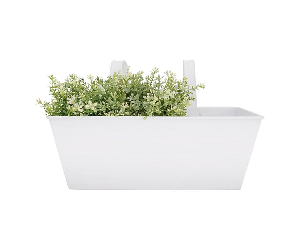 Jardiniera suspendabila Ilad - Esschert Design, Alb