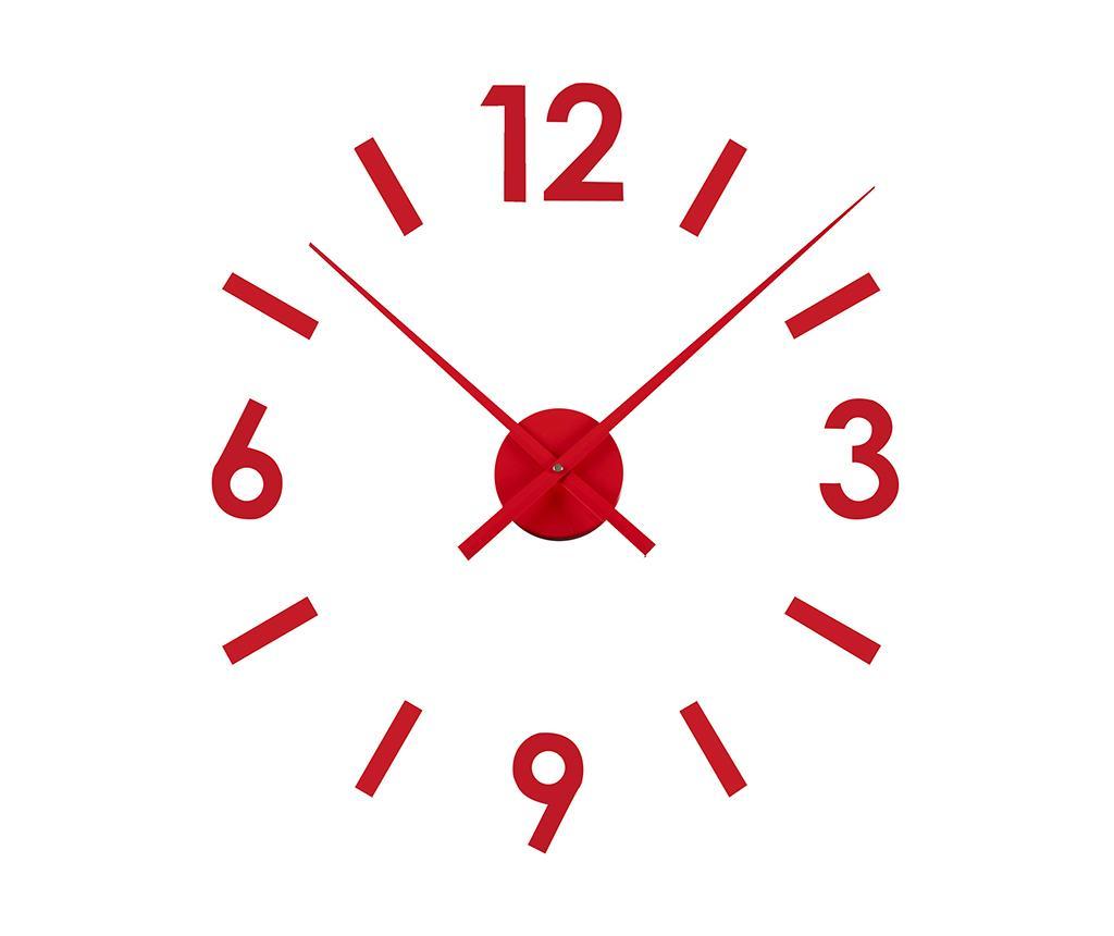Sticker ceas de perete Time Red - Versa, Rosu