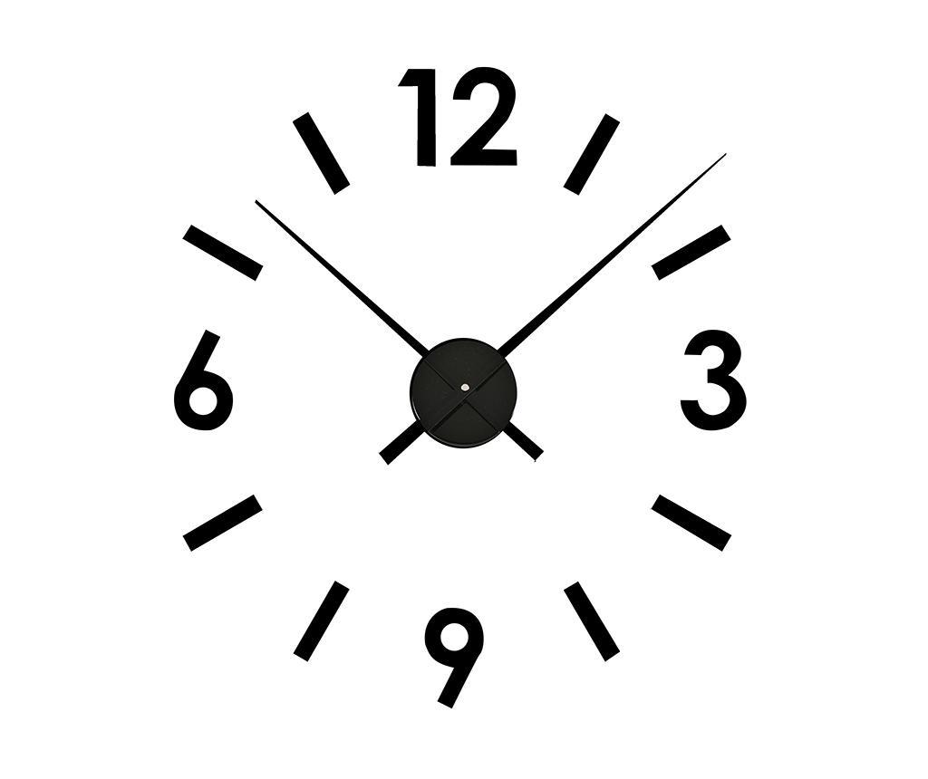 Sticker ceas de perete Time Black - Versa, Negru
