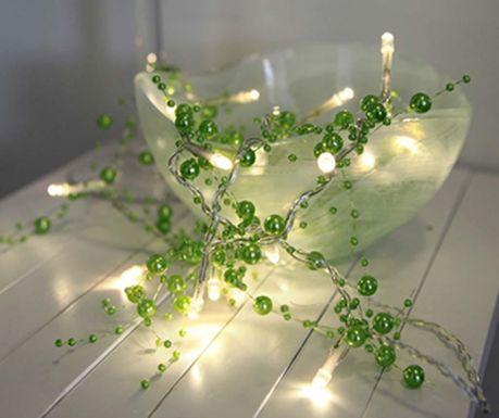 Ghirlanda  luminoasa Pearl Green