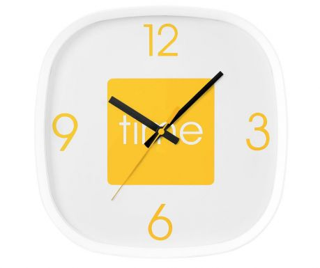 Nástěnné hodiny Arco Yellow