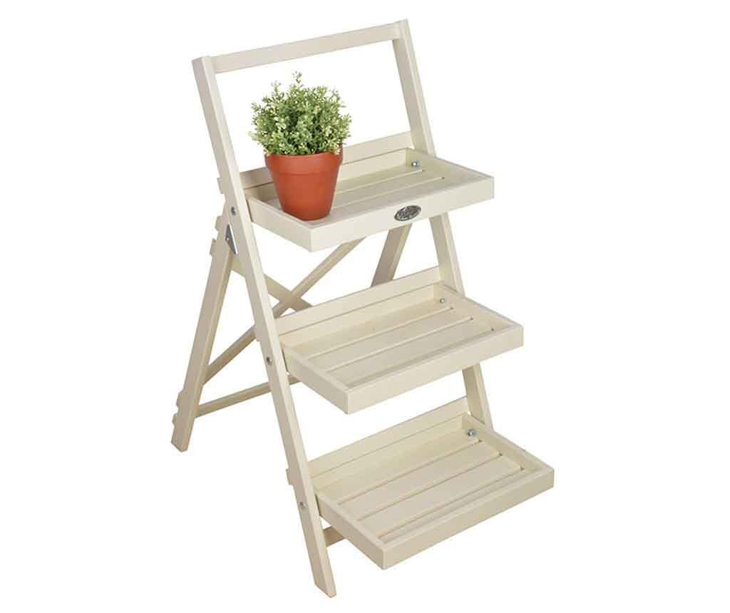 Suport pliabil pentru ghivece Stairs White - Esschert Design, Alb