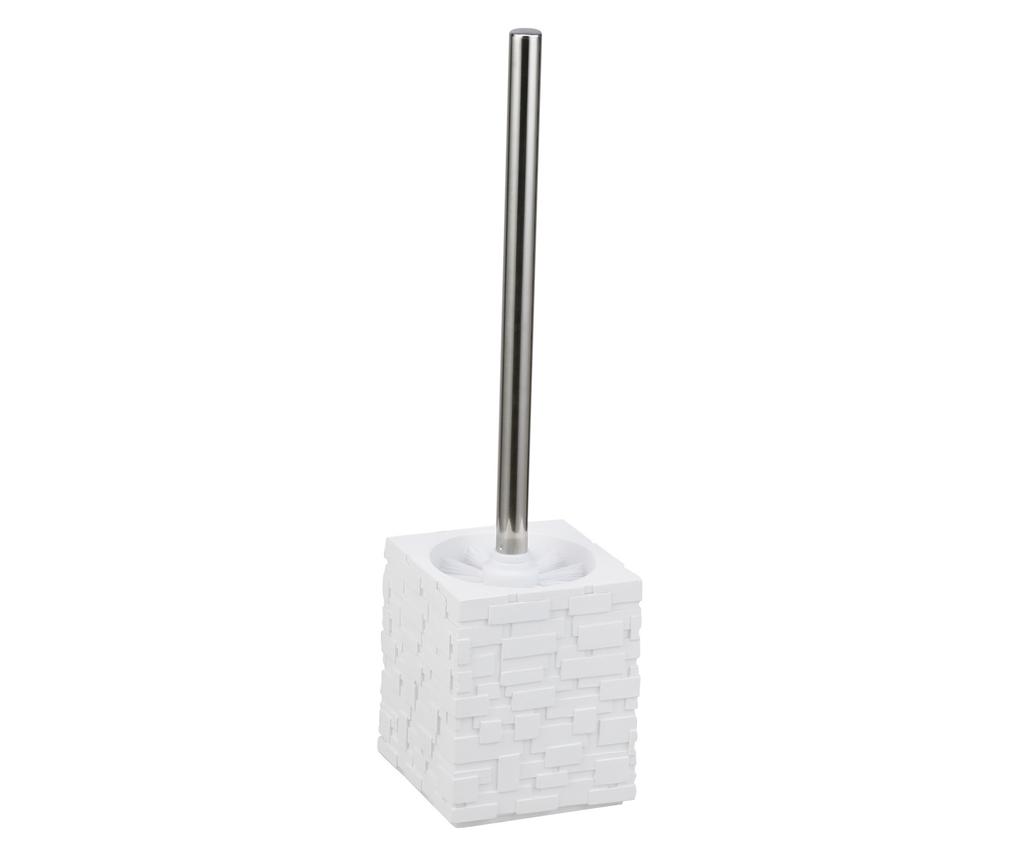 Perie de toaleta cu suport Wall White - Tomasucci, Alb