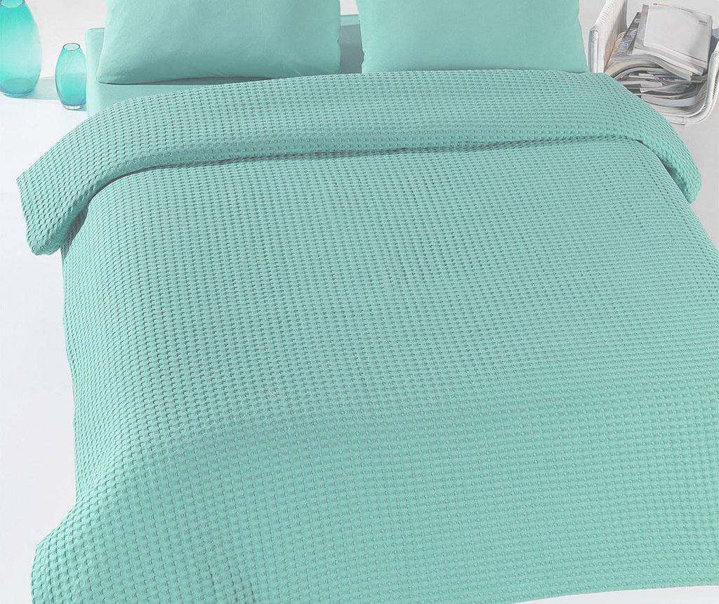 Cuvertura Pique Burum Mint 200x235 cm - Eponj Home, Verde de la Eponj Home