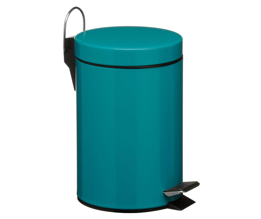 Cos de gunoi cu capac si pedala Simple Turquoise 3 L - Premier