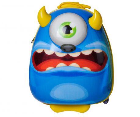 Detský kolieskový kufor Bouncie Monster Blue