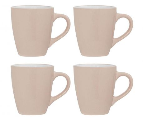 Set of 4 mugs Sienna Light Pink 350 ml