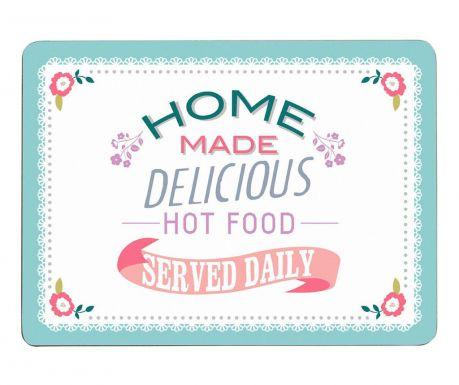 Zestaw 4 podkładek stołowych Delicious Food 22x29 cm