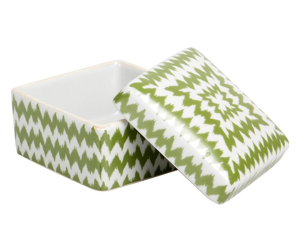 Dekoračná krabica s vekom Green