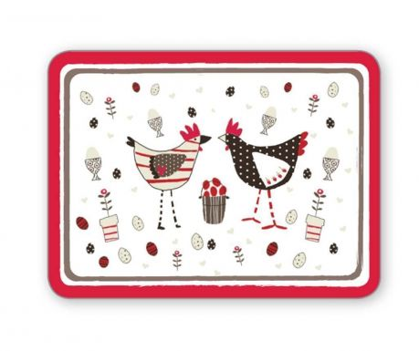 Set 4 individualuri Chicken White 21.5x29 cm