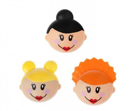 Sada 3 magnetiek na chladničku Cartoon Dolls