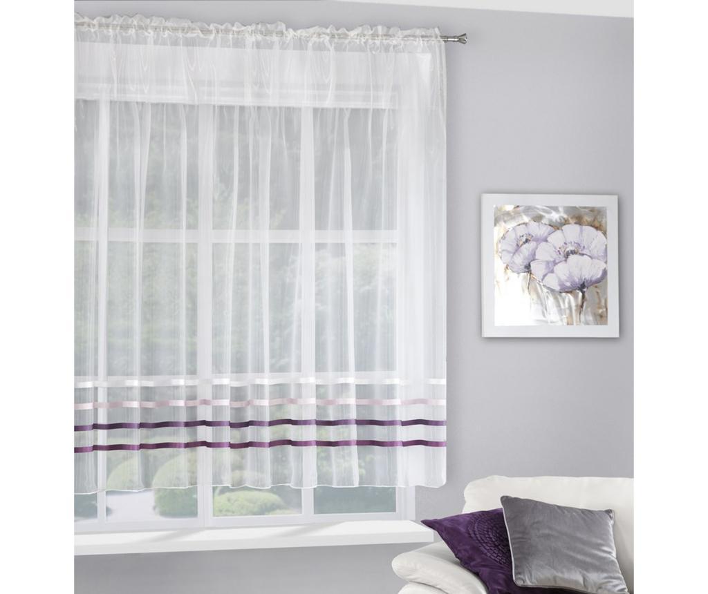 Perdea Gabi Evio Cream Purple 160x295 cm - Eurofirany, Crem