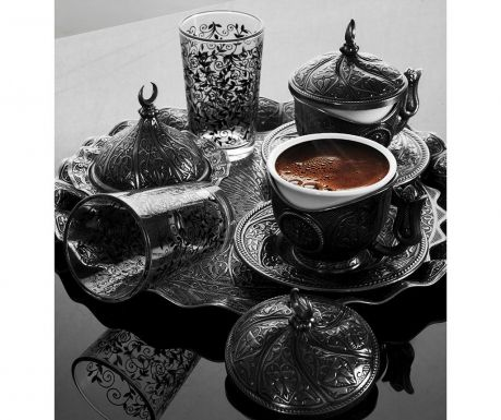 Baysan Smoked 11 darabos Kávéskészlet