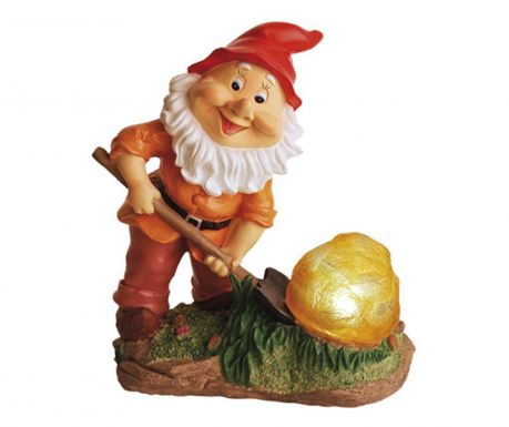 Соларна лампа Gnome with Rock