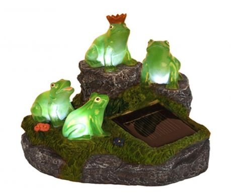 Lampa solarna Frogs on Rock