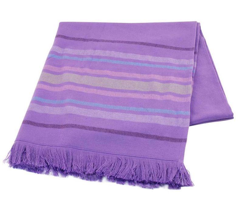 Peshtemal kopalniška brisača Lines Purple 70x170 cm