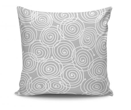 Perna decorativa Cercles Grey 45x45 cm