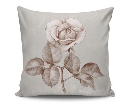 Decorative cushion Rose Sketch 45x45 cm