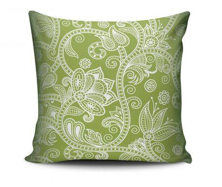 Poduszka dekoracyjna Floral Green 45x45 cm