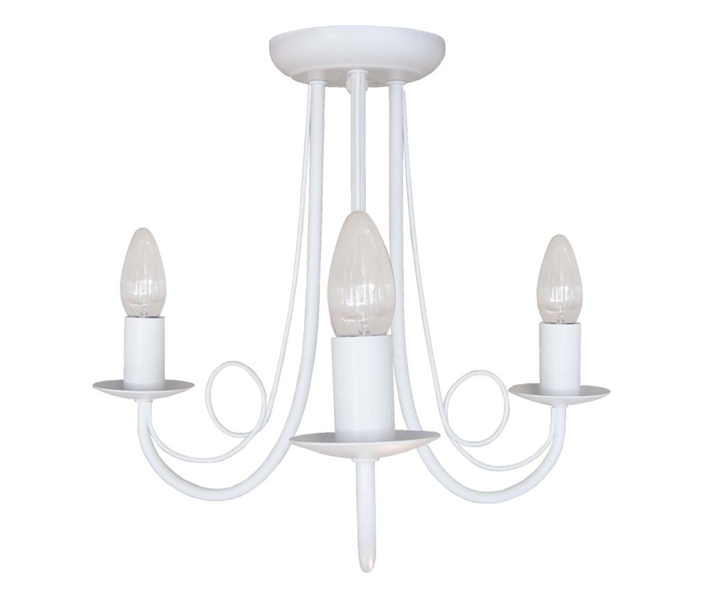 Candelabru Pearl White Triple - Light Prestige, Alb