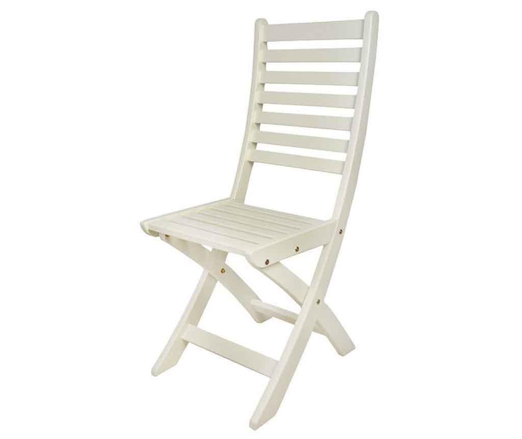 Scaun pliabil Garden White - Esschert Design, Alb