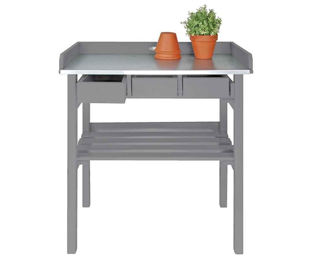 Masa de lucru pentru exterior Ilas Grey - Esschert Design, Gri & Argintiu