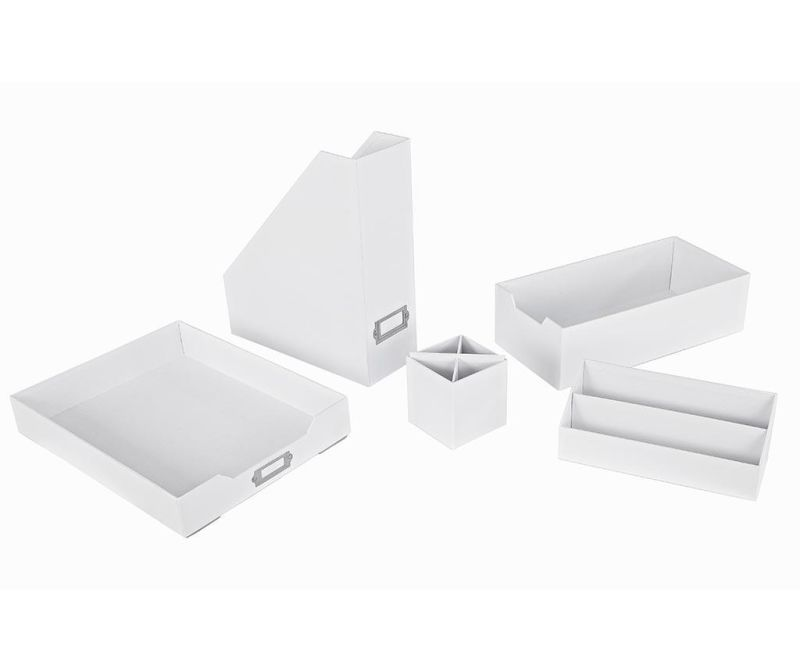 5-delni set za organiziranje Opaco White