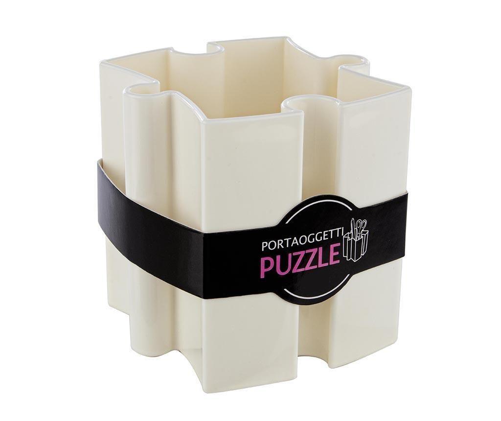 Suport pentru pixuri Puzzle White