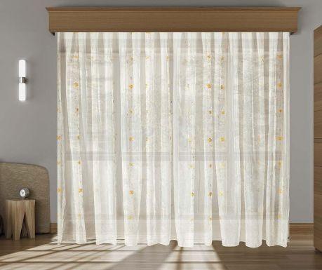 Záclona Diane Mustard 200x260 cm