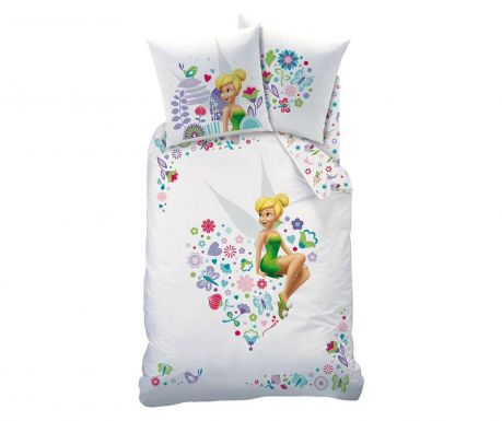 Posteljina Single Ranforce Tinkerbell Heart