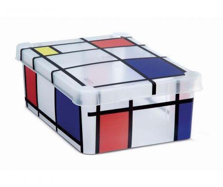 Cutie cu capac pentru depozitare Milano Squares M
