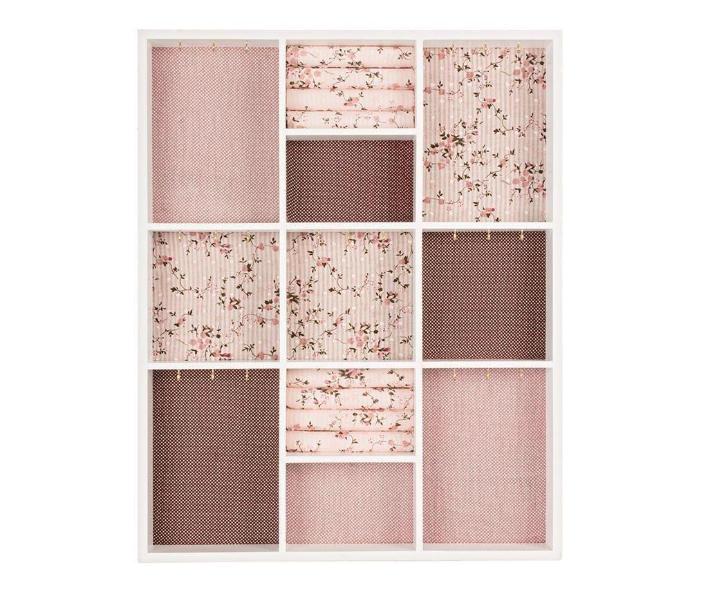 Pink Rectangular Ékszertartó szekrényke