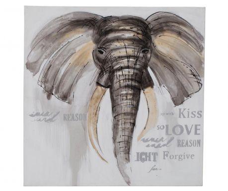 Elephant Kiss Festmény 80x80 cm