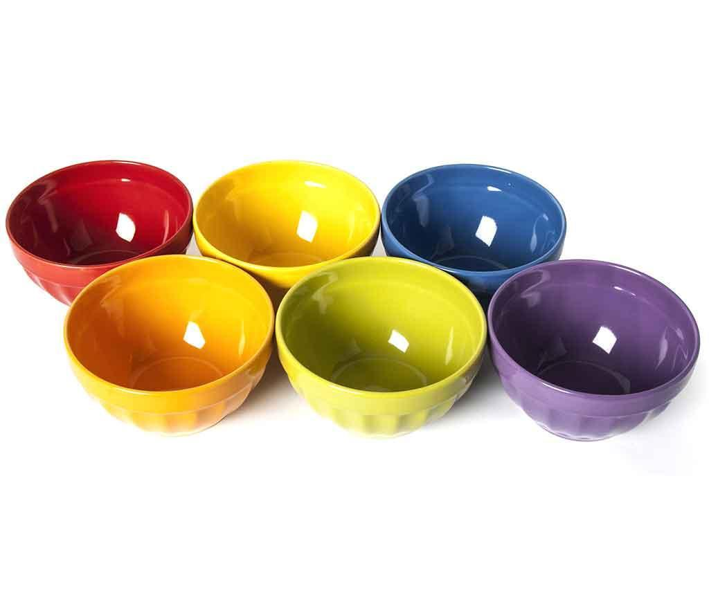Set 6 boluri Rainbow 550 ml - Excelsa, Multicolor imagine 2021