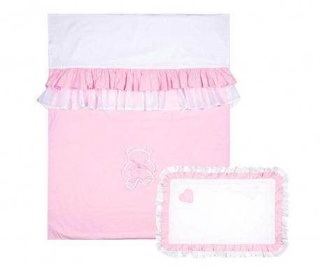 Комплект ватирана кувертюра за детско легло Sweet Dreams Pink