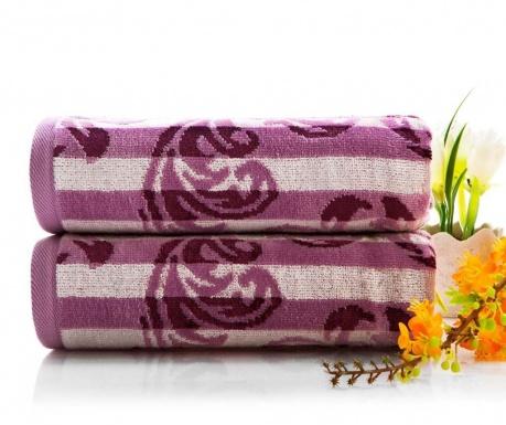 Ręcznik kąpielowy Elise Purple 50x90 cm