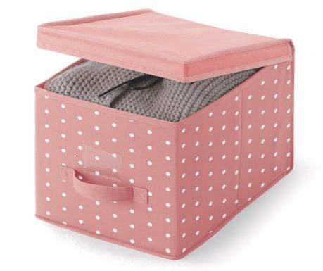 Úložná krabica s vekom Vintage Pink
