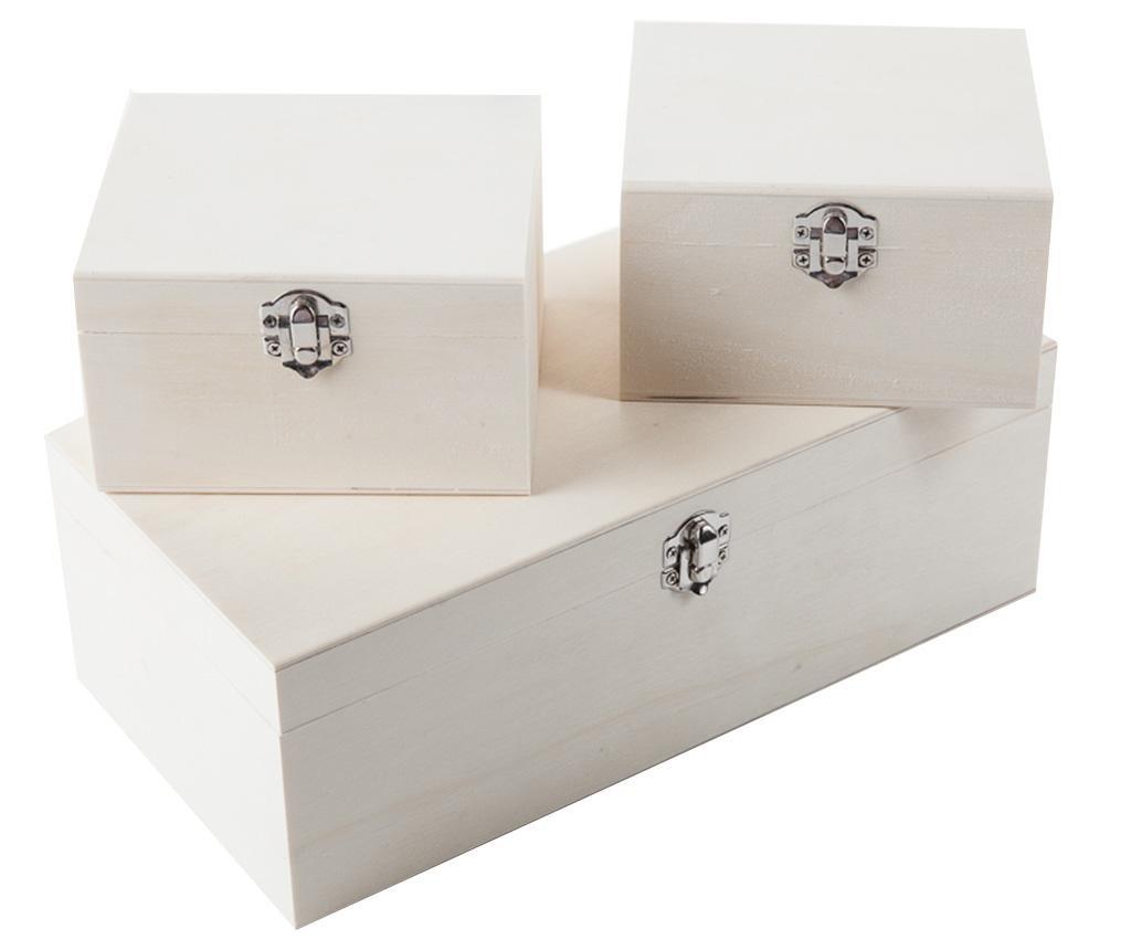 Set 3 cutii pentru depozitare Combo Silver
