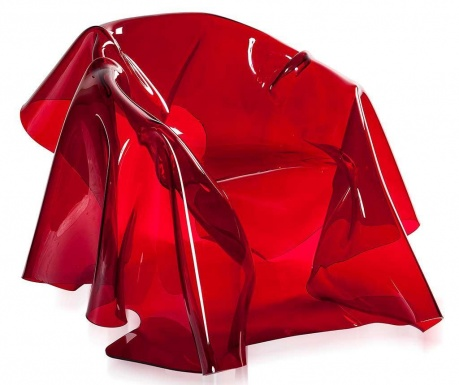 Fotoliu Drappeggi Red