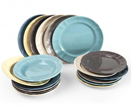 Set de masa 18 piese Country Chic Multicolor