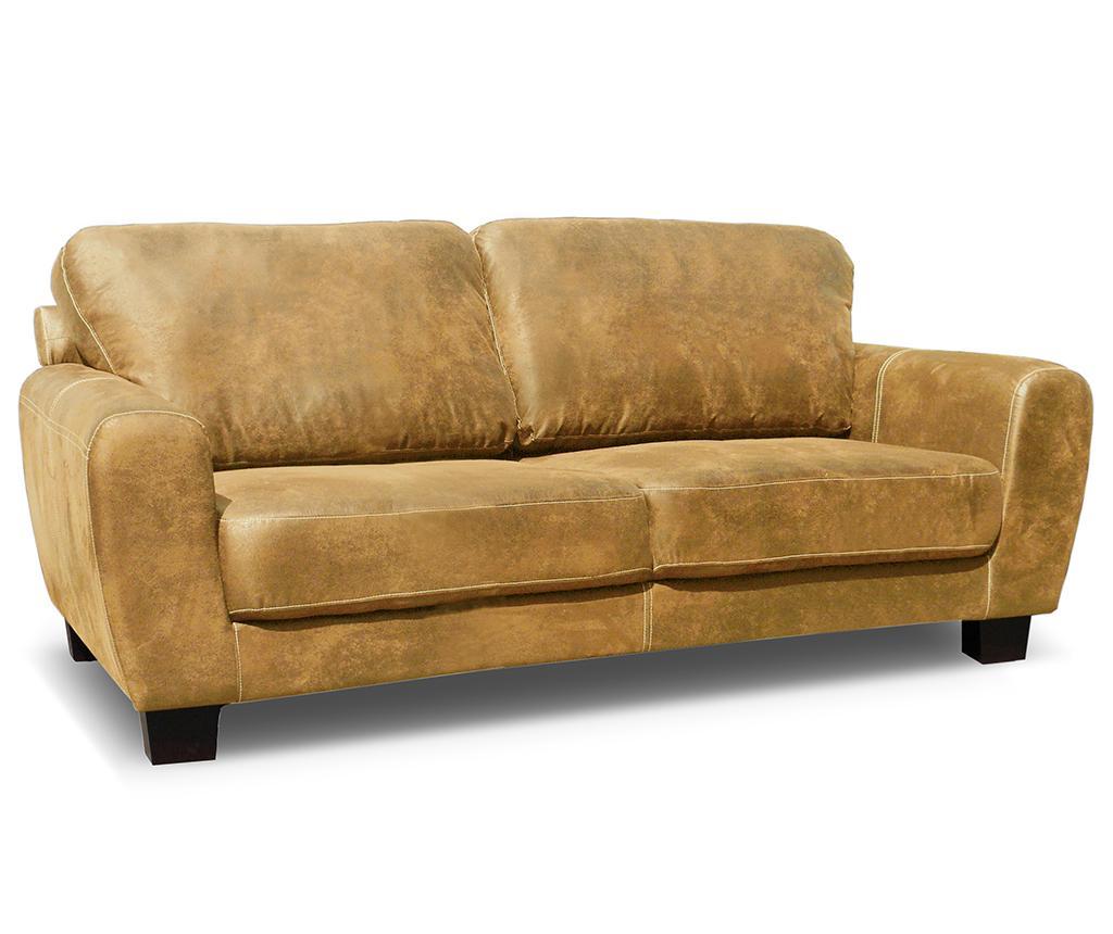 Canapea 3 locuri Tweed Caramel - Rodier Interieurs
