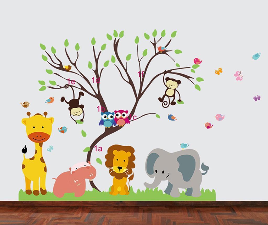 Sticker Monkey Forest Tree - BeeStick, Multicolor