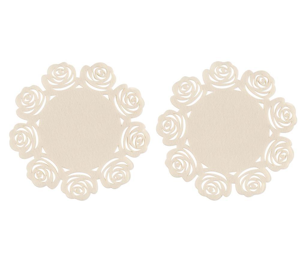 Set 2 podmetača Ivory Rose 25 cm