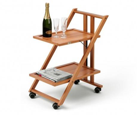 Сгъваема количка за сервиране Simpaty Brown