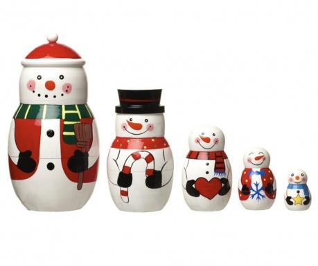 Set 5 decoratiuni Snowy