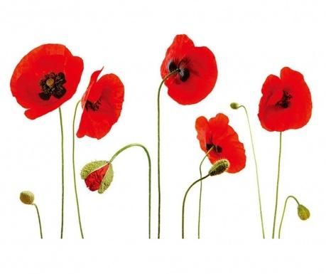 Sticker Red Poppy