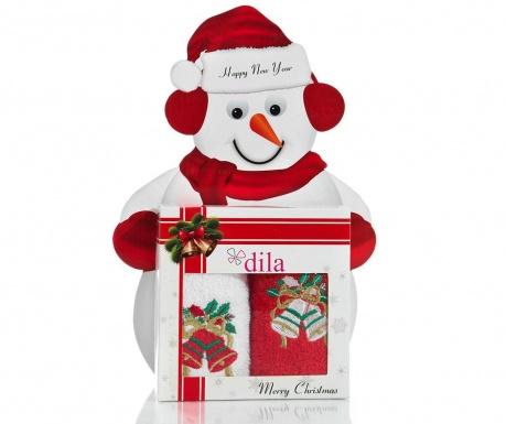 Set 2 prosoape de baie Christmas Bell Gift 30x50 cm