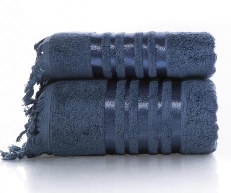Zestaw 2 ręczniki kąpielowe Eleanor Dark Blue