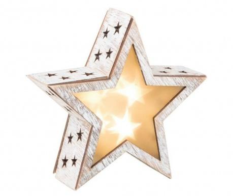 Světelná dekorace 3D Shabby Chic Star