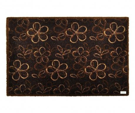 Flowers Brown Lábtörlő szőnyeg 50x70 cm